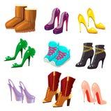 Reeks schoenen Stock Foto