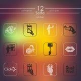 Reeks selfiepictogrammen royalty-vrije illustratie