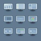 Reeks SEO-pictogrammen stock illustratie