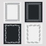 Reeks silhouet verticale kaders Royalty-vrije Stock Afbeelding