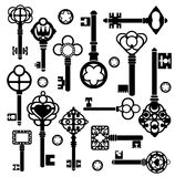 Reeks sleutels Royalty-vrije Stock Afbeeldingen