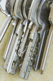 Reeks sleutels stock foto's
