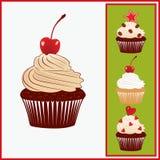 Reeks smakelijke cakes. Royalty-vrije Stock Afbeeldingen