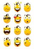 Reeks smileys Stock Afbeeldingen