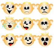 Reeks smileys Stock Fotografie