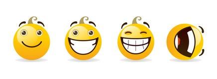 Reeks smileys Royalty-vrije Stock Fotografie