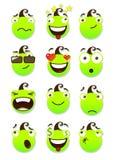 Reeks smileys Stock Foto