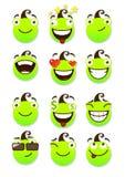 Reeks smileys Royalty-vrije Stock Afbeelding