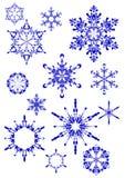 Reeks sneeuwklokjes Stock Afbeelding