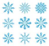 Reeks sneeuwvlokken. vector illustratie