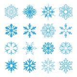 Reeks sneeuwvlokken vector illustratie