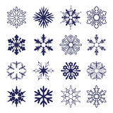 Reeks sneeuwvlokken royalty-vrije illustratie