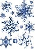 Reeks sneeuwvlokken Royalty-vrije Stock Afbeelding