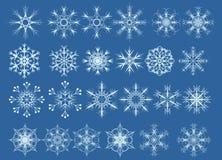 Reeks sneeuwvlokken Stock Afbeelding