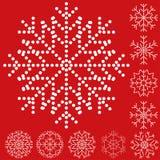 Reeks sneeuwvlokken Royalty-vrije Stock Fotografie