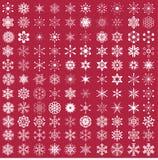 Reeks sneeuwvlokken Royalty-vrije Stock Afbeeldingen