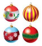 Reeks Snuisterijen van Kerstmis Royalty-vrije Stock Fotografie