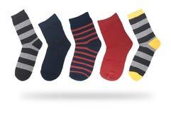 Reeks sokken voor geïsoleerde jongens stock fotografie