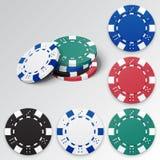 Reeks spaanders van het Casino Royalty-vrije Stock Fotografie