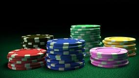 Reeks spaanders van het Casino Stock Afbeelding