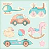 Reeks speelgoed van kinderen Stock Afbeelding