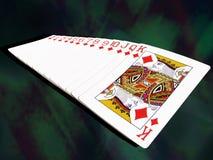 Reeks speelkaarten Stock Foto's