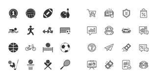 Reeks sport en fitness pictogrammen Vector stock illustratie