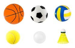 Reeks sportballen Stock Fotografie
