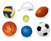 Reeks sportballen. Vector. Royalty-vrije Stock Foto's