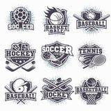 Reeks sportemblemen Royalty-vrije Stock Afbeelding