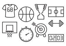 Reeks sportpictogrammen Vector illustratie royalty-vrije illustratie