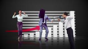 Reeks springende bedrijfsmensen in langzame motie vector illustratie
