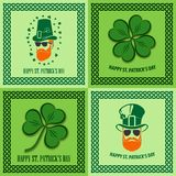 Reeks St Patrick Dagaffiches, banners, etiketten, kentekens, emblemen of groetkaarten Vector illustratie royalty-vrije illustratie