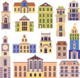 Reeks stadsvoorwerpen stock illustratie