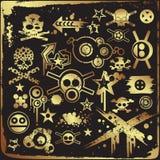 Reeks Stedelijke Elementen van het Ontwerp Grunge Royalty-vrije Illustratie