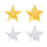 Reeks sterren Vector illustratie Royalty-vrije Stock Foto's
