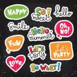 Reeks stickers Vector Illustratie