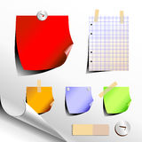 Reeks stickers Royalty-vrije Stock Fotografie