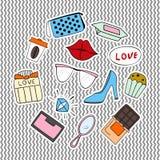 Reeks stickers Stock Fotografie