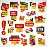 Reeks stickers en banners vector illustratie