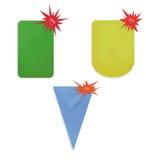 Reeks stickers, etiketten Royalty-vrije Stock Afbeeldingen