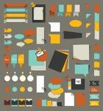 Reeks stickers, herinneringenkaarten Stock Afbeeldingen