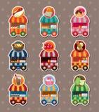 Reeks stickers van de de marktkar van de partijwinkel Royalty-vrije Stock Fotografie
