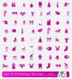 Reeks stickers van Kerstmis Stock Foto