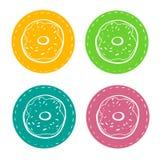 Reeks stickers voor baksel, vector illustratie