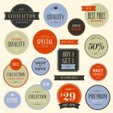 Reeks stickers voor manier en schoonheidsproducten Stock Foto's
