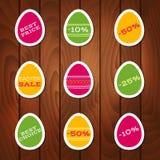 Reeks stickers voor Pasen-verkoop Royalty-vrije Stock Afbeelding