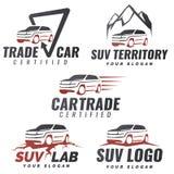 Reeks SUV-het embleemmalplaatjes van de autodienst Royalty-vrije Stock Afbeeldingen