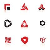 Reeks symbolen, embleemelementen Royalty-vrije Stock Afbeeldingen