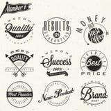 Reeks symbolen voor Beste Kwaliteit, Origineel Merk, Nieuw Product. Royalty-vrije Stock Foto's